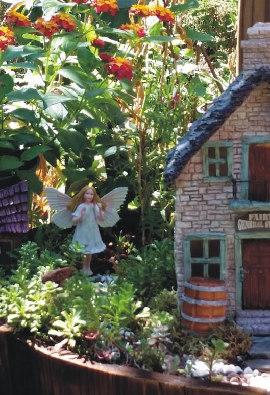 yarrow fairy on nature trail