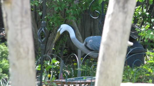A Heron Statue...Looks Real From a Distance